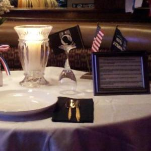 POW/MIA Table at Applebee's St. Petersburg, FL was taken by Paul Coffee.